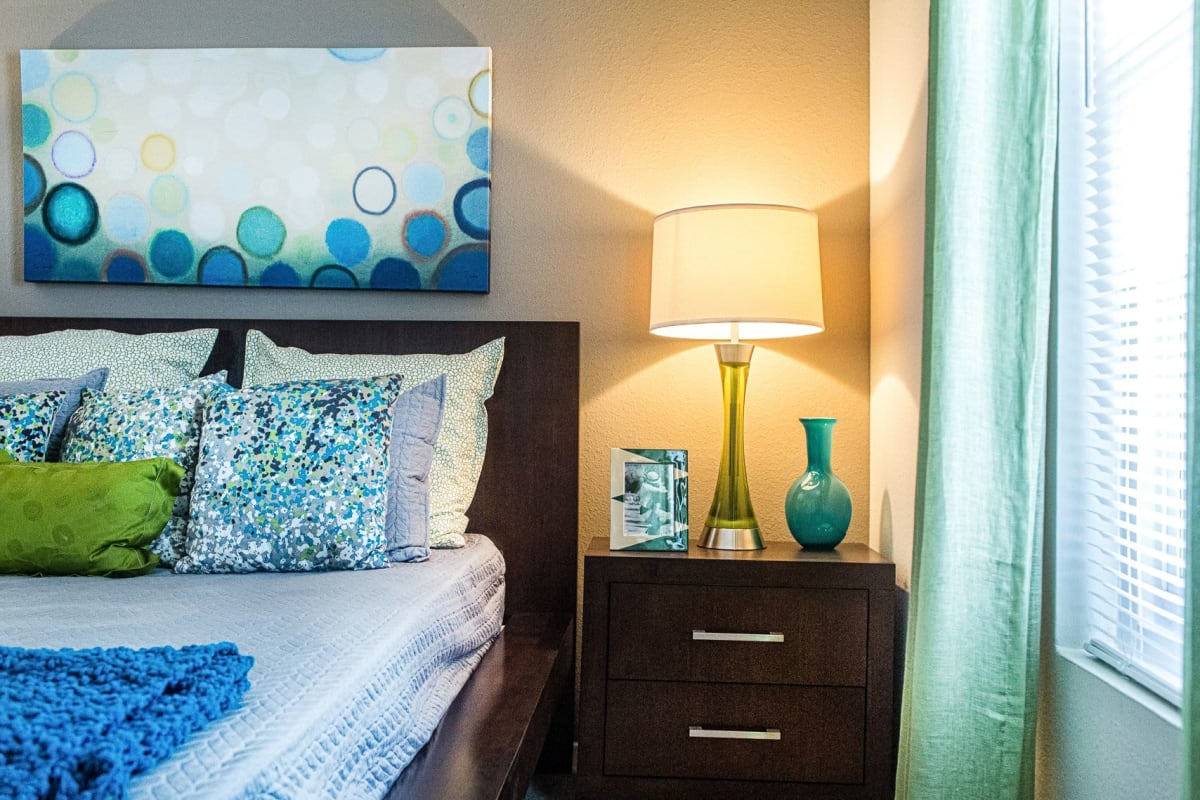 Night stand at The Views at Laurel Lakes in Laurel, Maryland