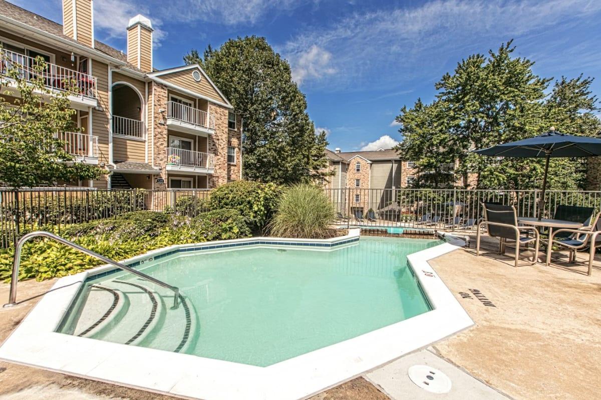 Spa style pool at The Views at Laurel Lakes in Laurel, Maryland
