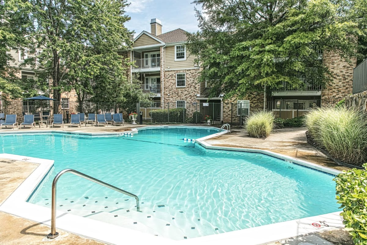 Pool with steps at The Views at Laurel Lakes in Laurel, Maryland