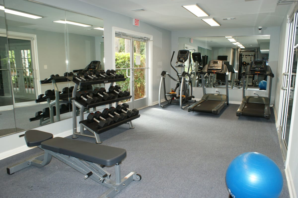 Well equipped fitness center at The Kendall in Brunswick, Georgia