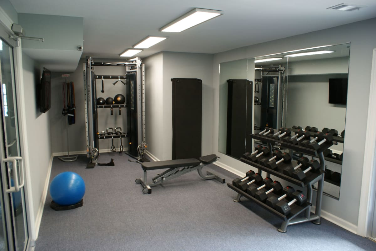 Onsite fitness center at The Kendall in Brunswick, Georgia