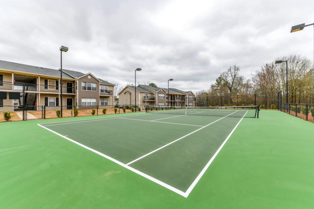 Tennis courts at 900 Dwell in Stockbridge, Georgia