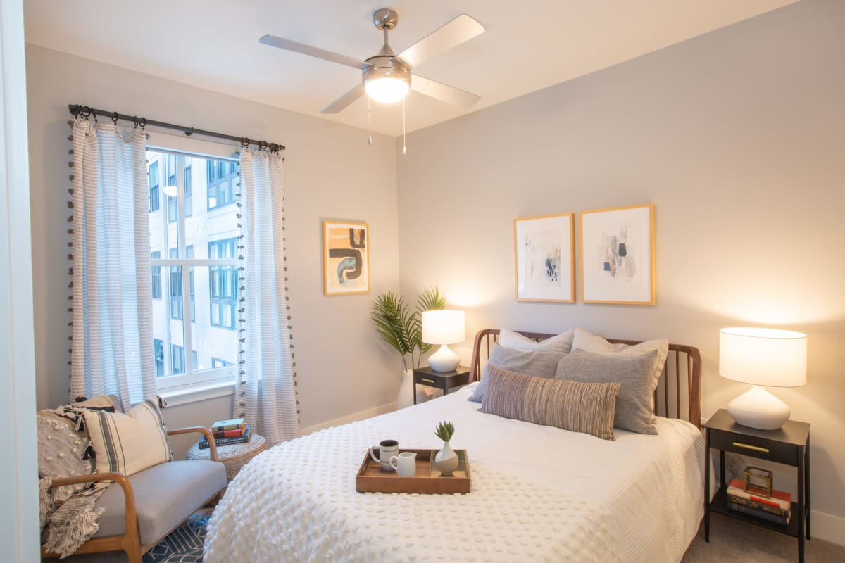 Cozy bedroom with a view at 511 Meeting in Charleston, South Carolina