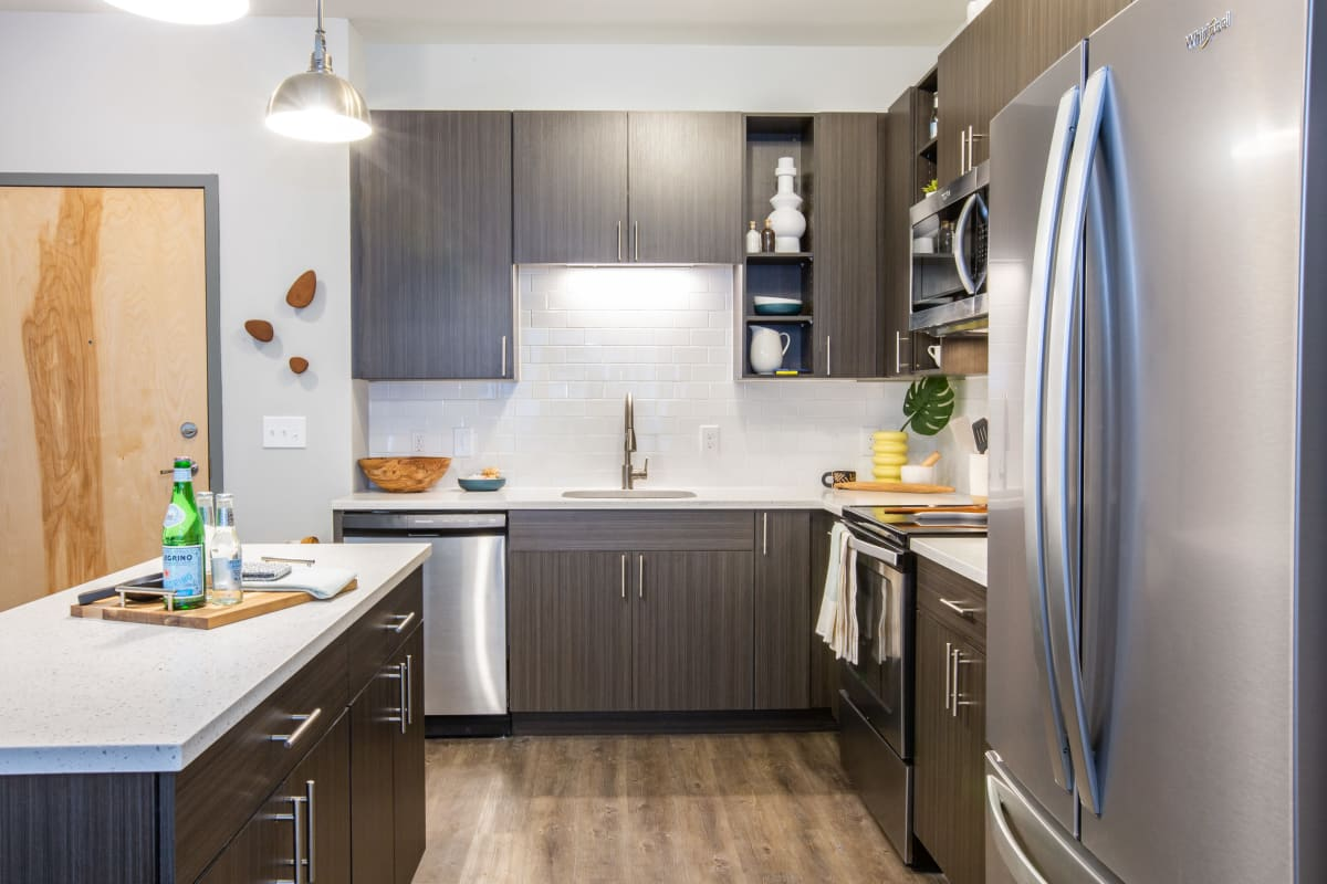 Kitchen with stainless steel appliances at 511 Meeting in Charleston, South Carolina