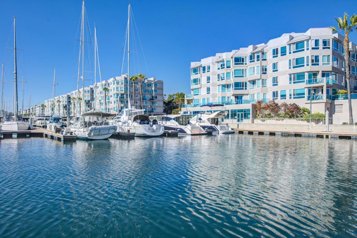 View of the water at Esprit Marina del Rey in Marina del Rey, California