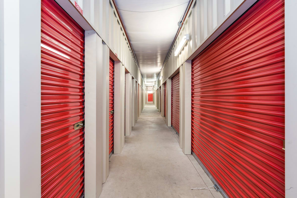 Indoor storage units at Red Dot Storage in Boulder, Colorado