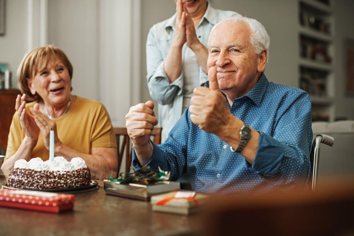 Celebrating a birthday at Ashbrook Village in Duncan, Oklahoma
