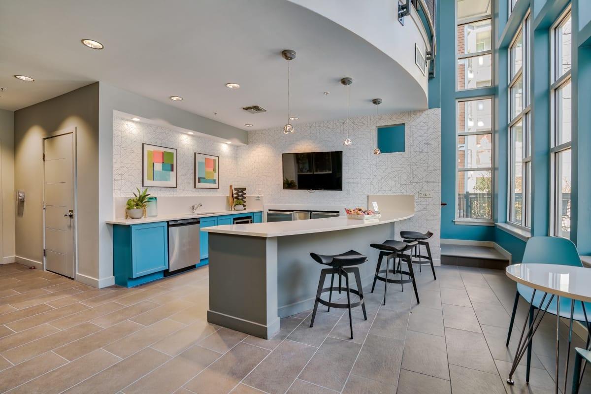 Kitchen area at Indigo 19 in Virginia Beach, Virginia