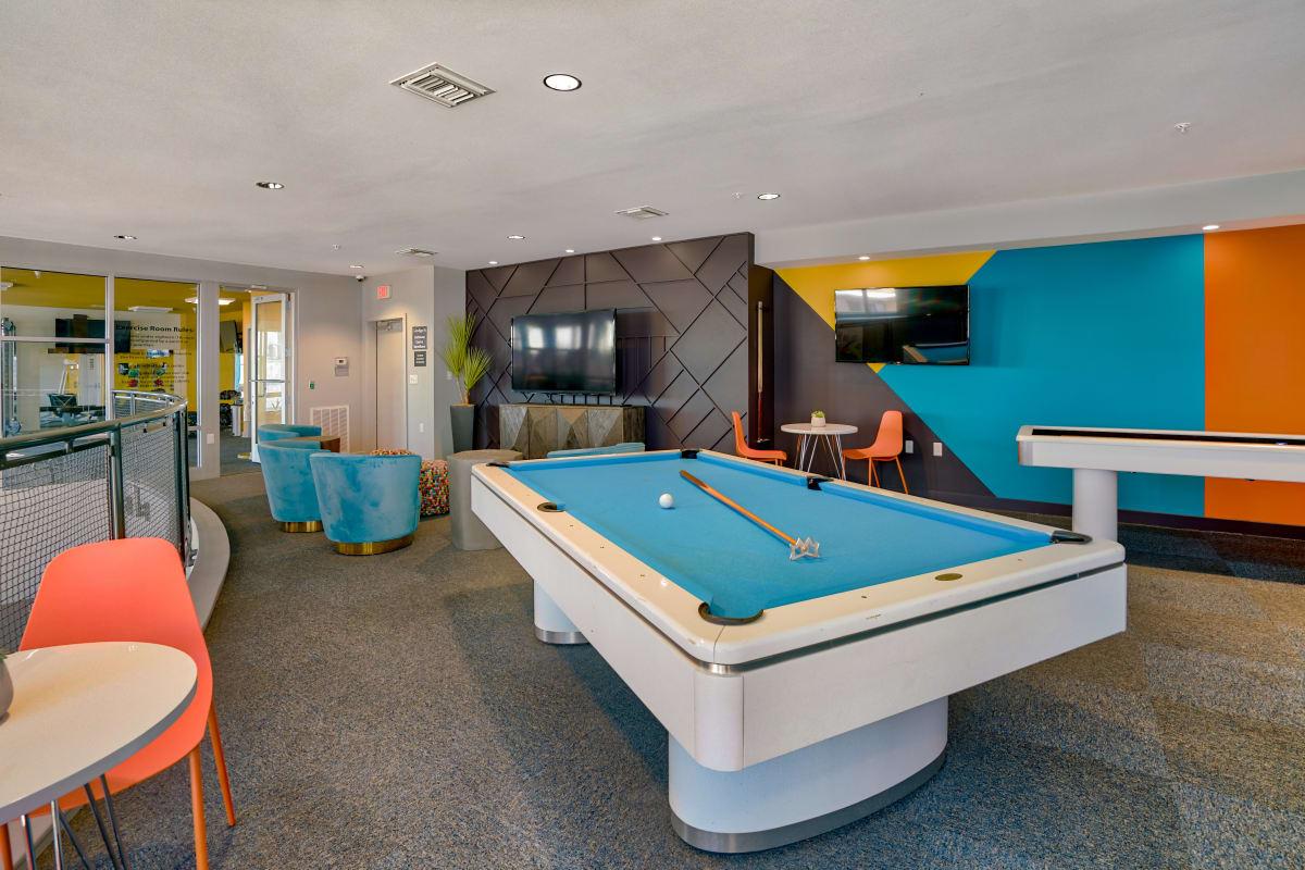 Game room at Indigo 19 in Virginia Beach, Virginia