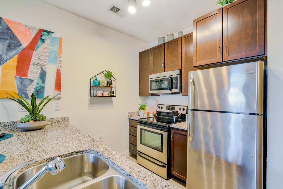 Fully-Equipped Kitchen at Indigo 19 in Virginia Beach, Virginia