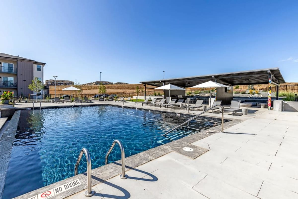 Resort-style pool at The Wyatt Apartments in Fort Collins, Colorado