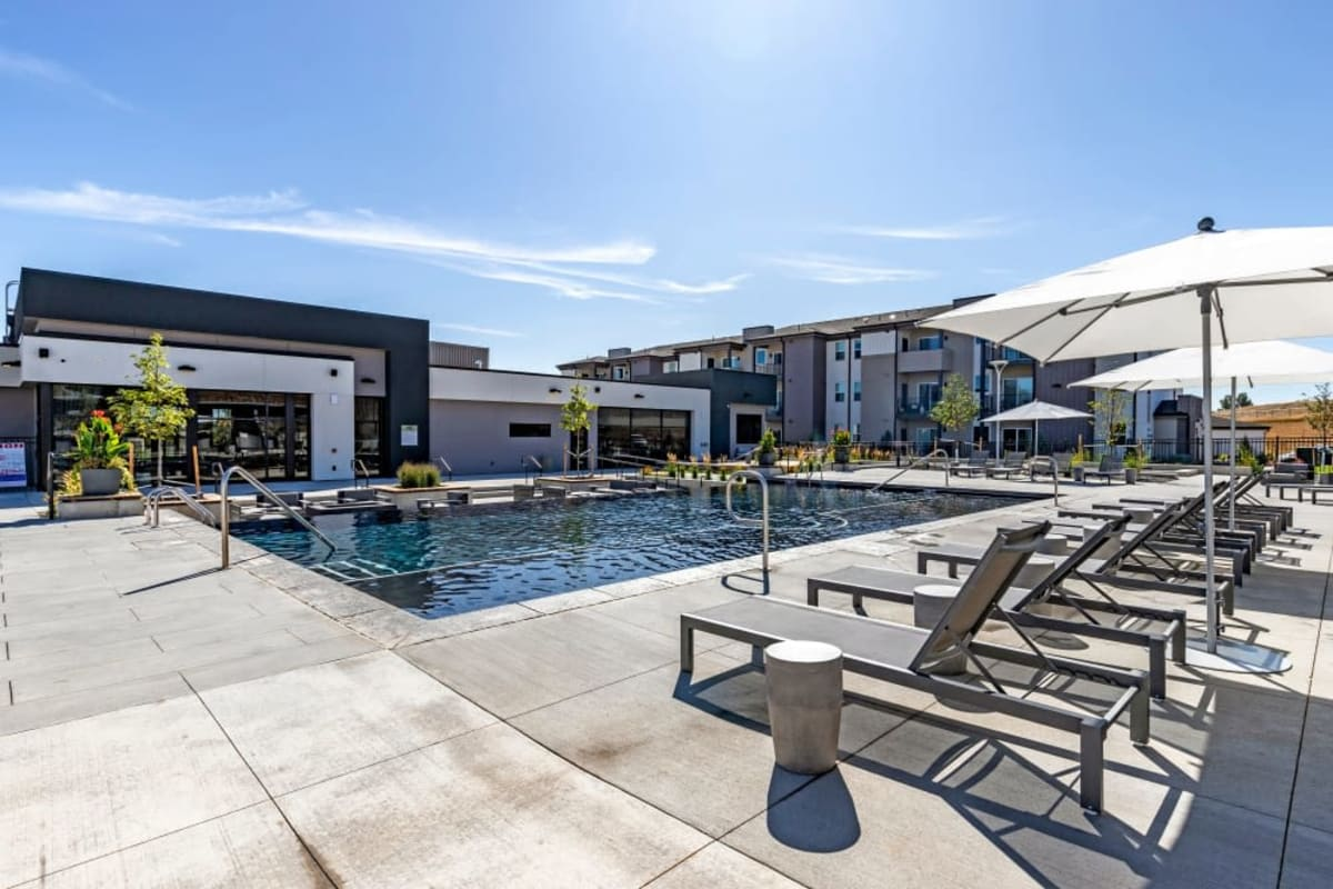 Outdoor Swimming Pool at The Wyatt Apartments in Fort Collins, Colorado