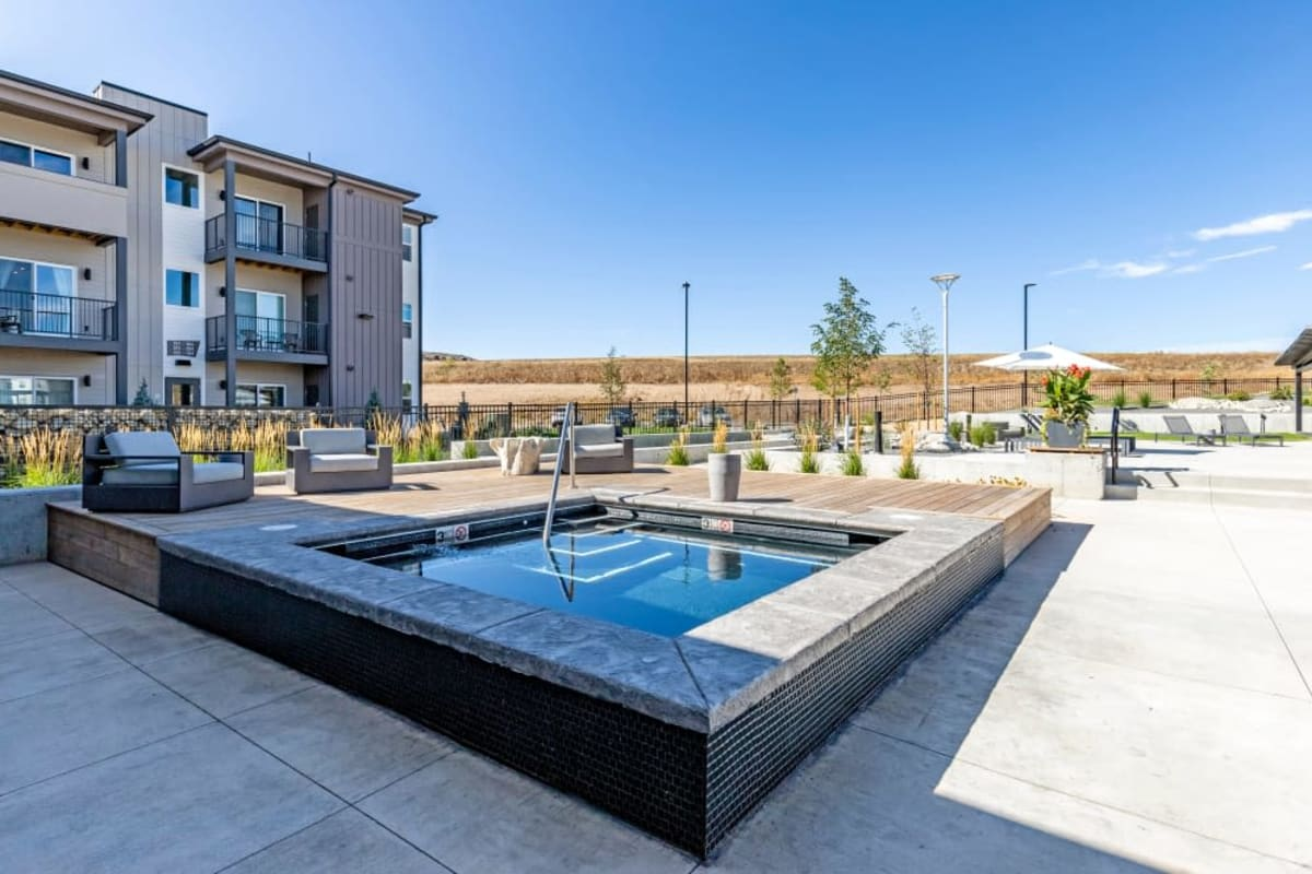 Jacuzzi at The Wyatt Apartments in Fort Collins, Colorado