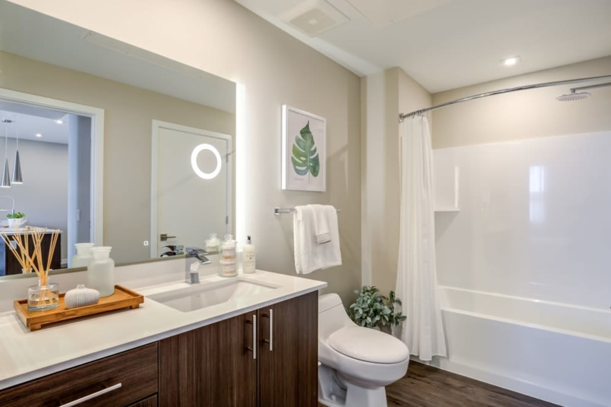 Bathroom at The Wyatt Apartments in Fort Collins, Colorado