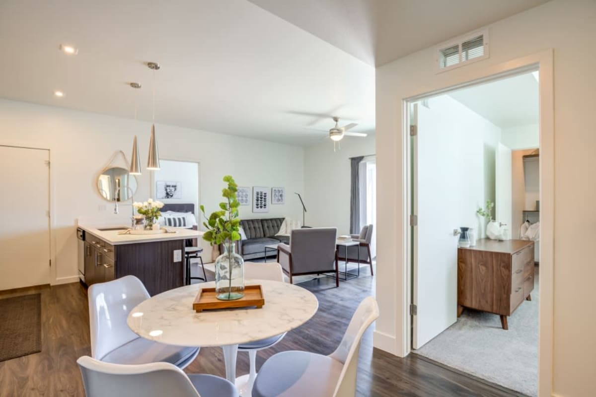 Model living room at The Wyatt Apartments in Fort Collins, Colorado