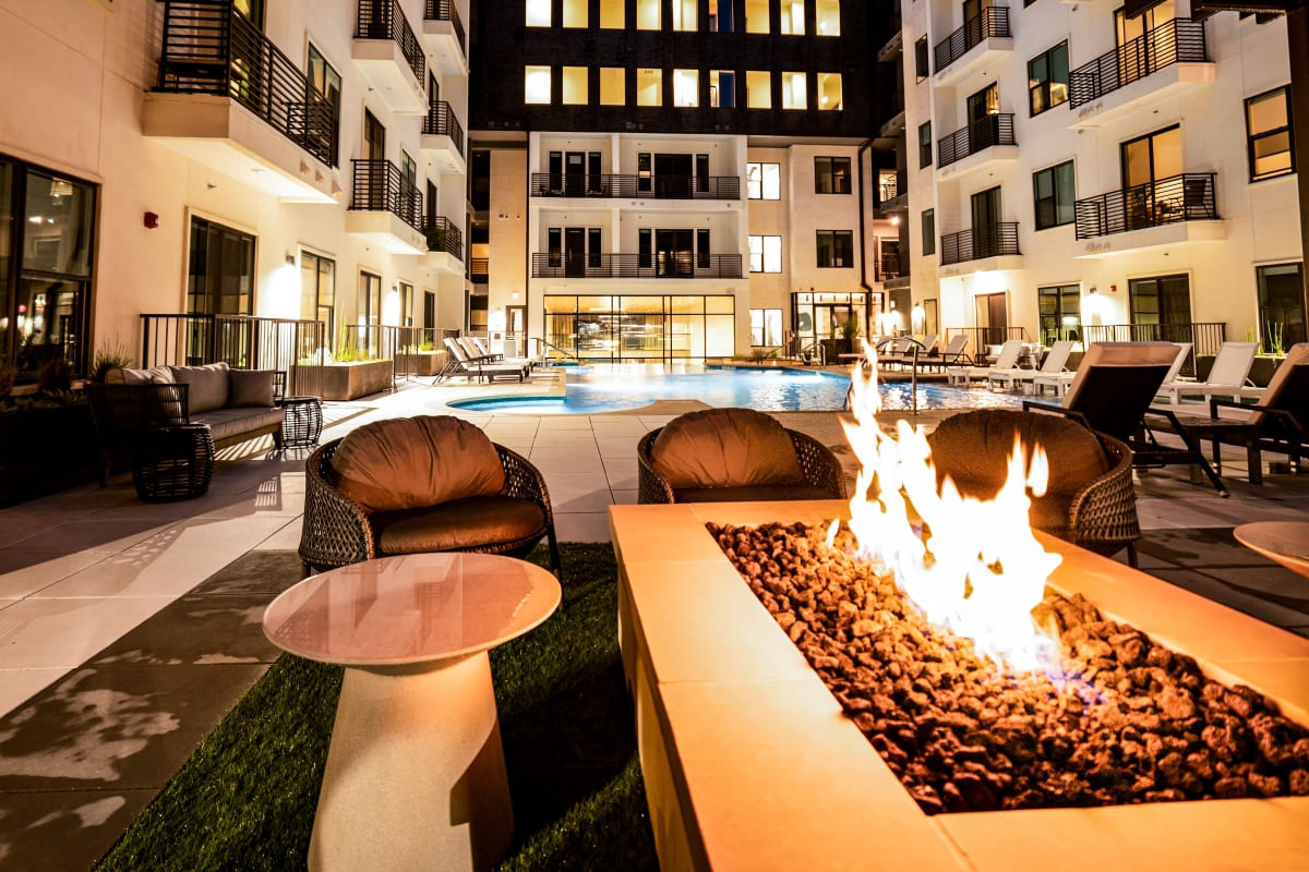 Outdoor fire pit at The Clark in Austin, Texas