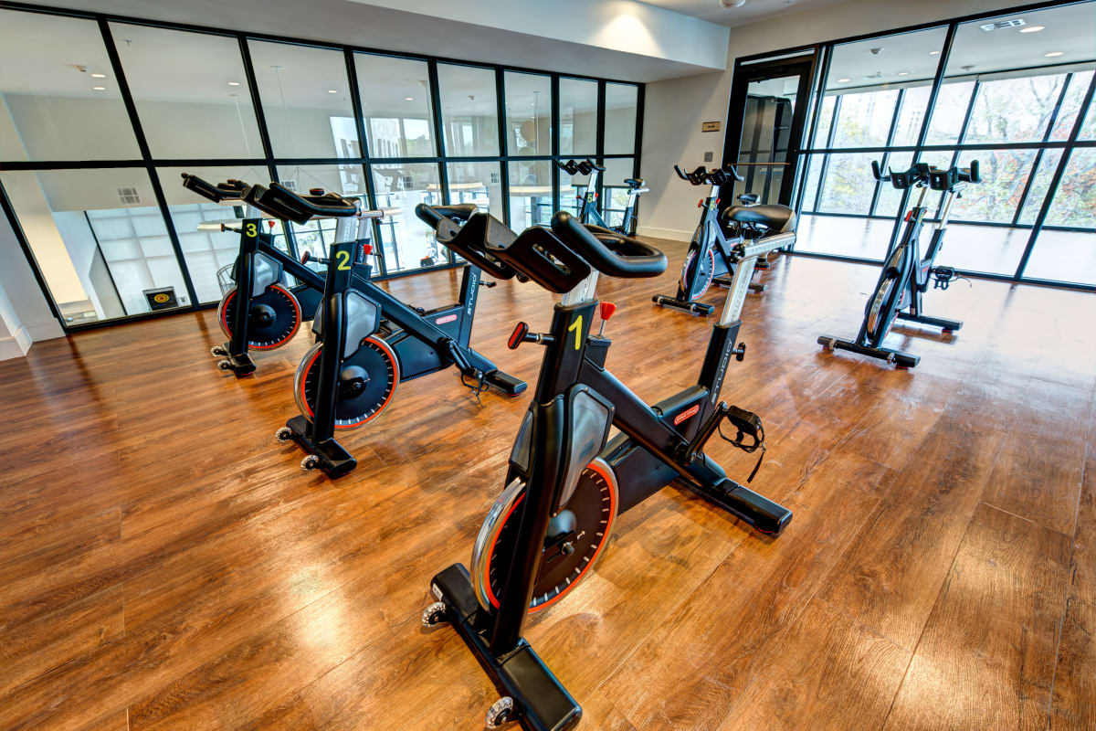 Spin bikes at Water Marq in Austin, Texas