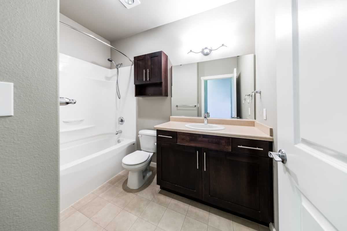 Bathroom at Copperline at Point Ruston in Tacoma, Washington