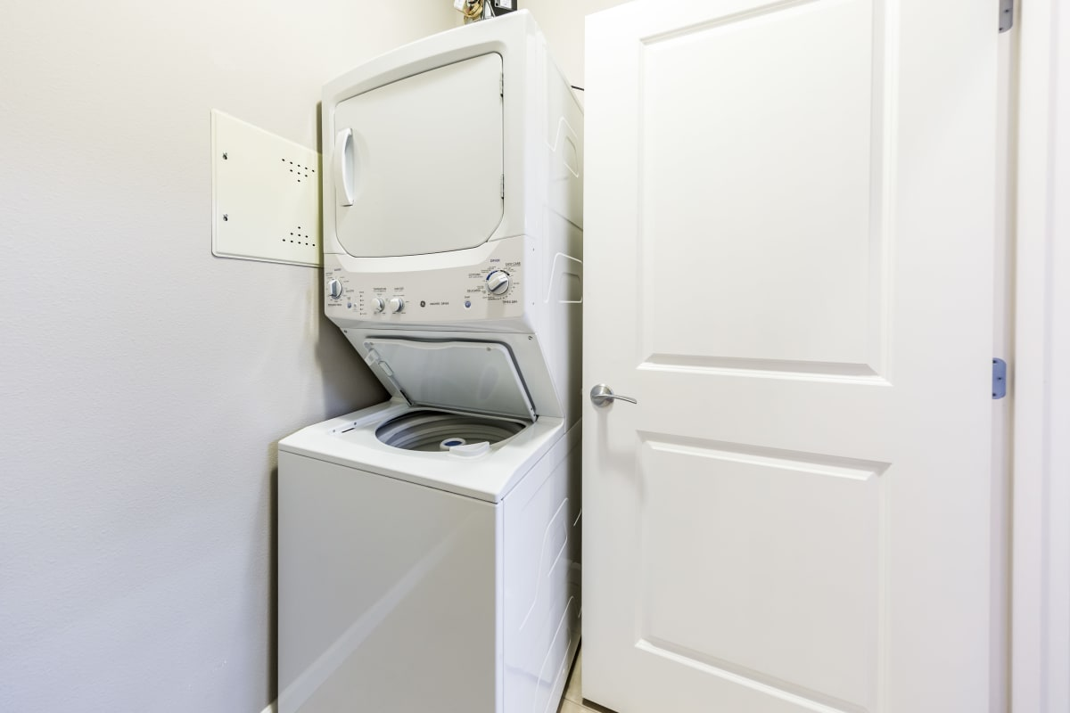 In-home washer and dryer at Copperline at Point Ruston in Tacoma, Washington