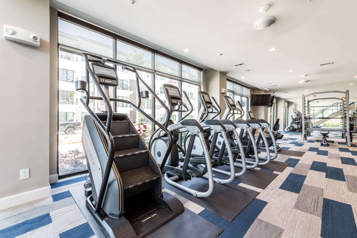 Fitness center at Marq 31 in Houston, Texas