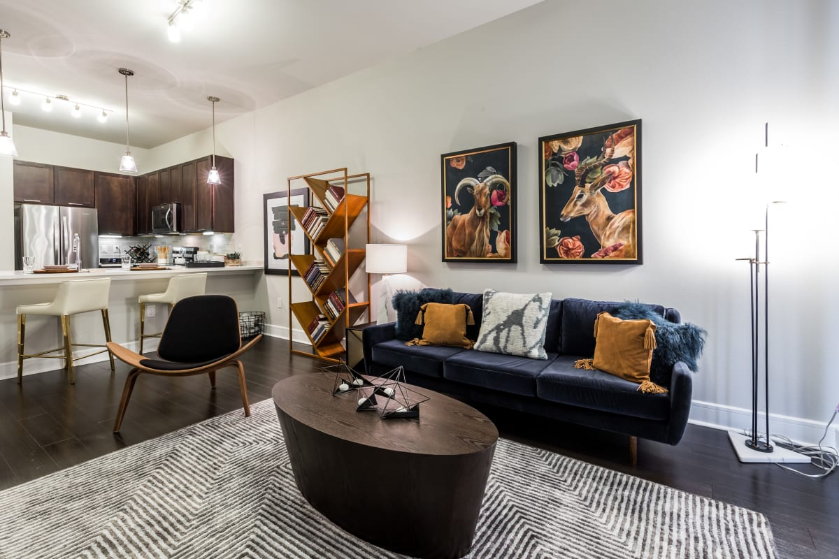 Bright living space at Marq 31 in Houston, Texas