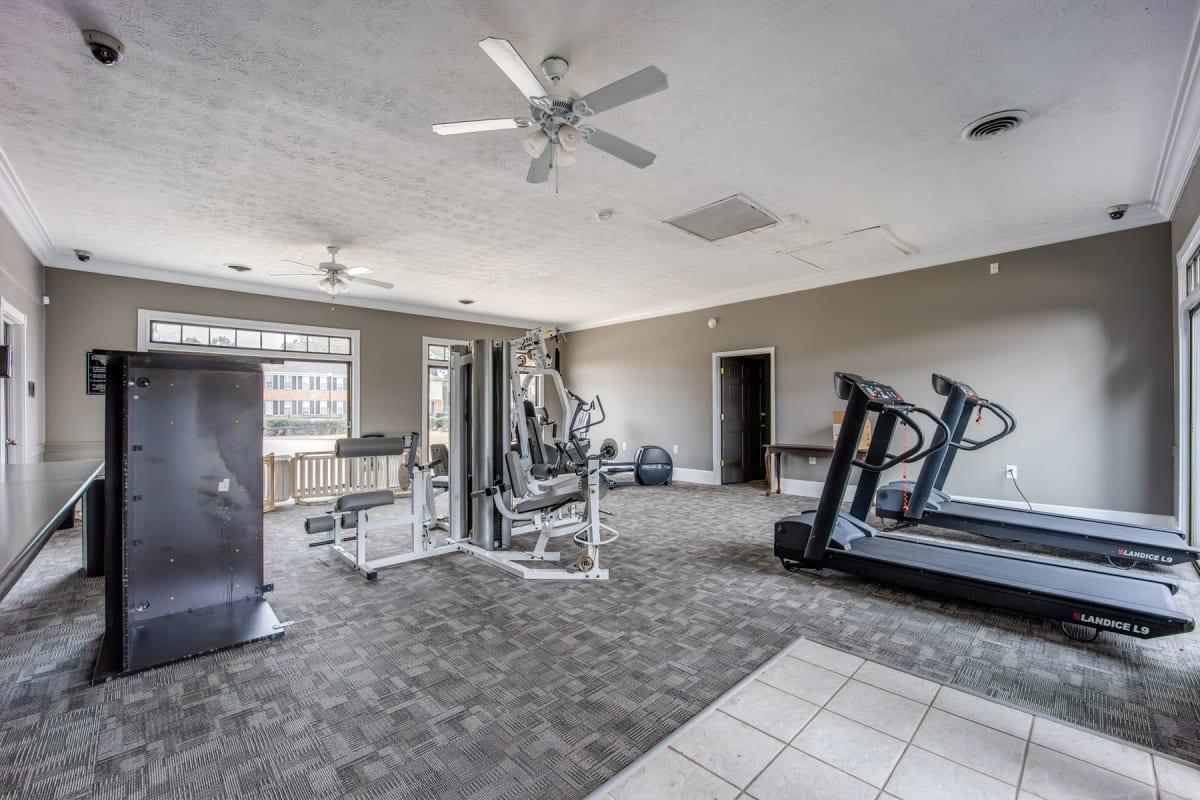 Cardio machines in the fitness center at Sedgefield in Marietta, Georgia