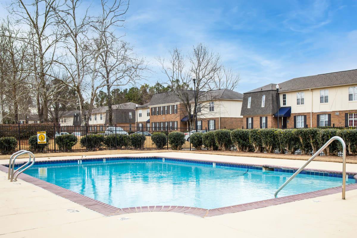 Peaceful swimming pool on a calm day at Sedgefield in Marietta, Georgia