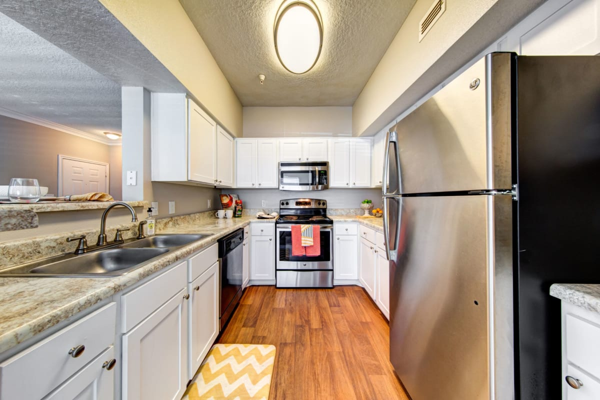 Fully equipped kitchen at Marquis at Silverton in Cary, North Carolina