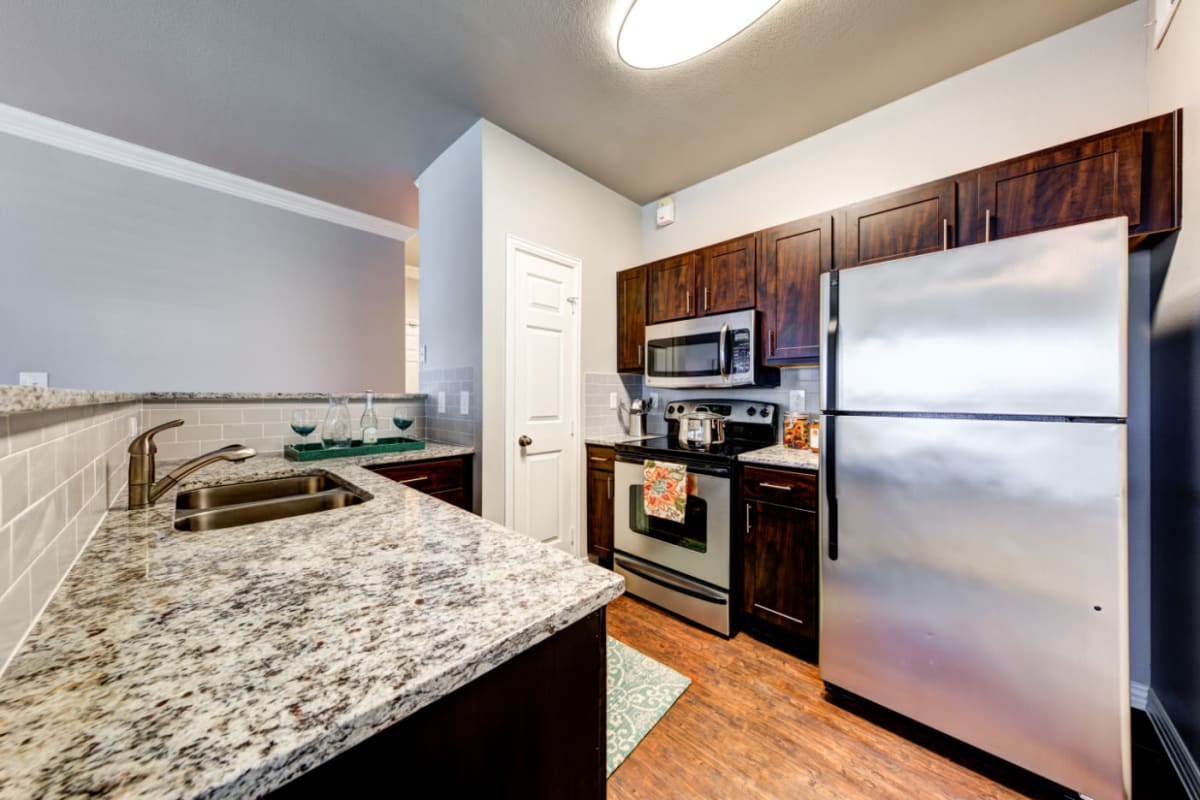 Kitchen at Marquis at Silver Oaks in Grapevine, Texas