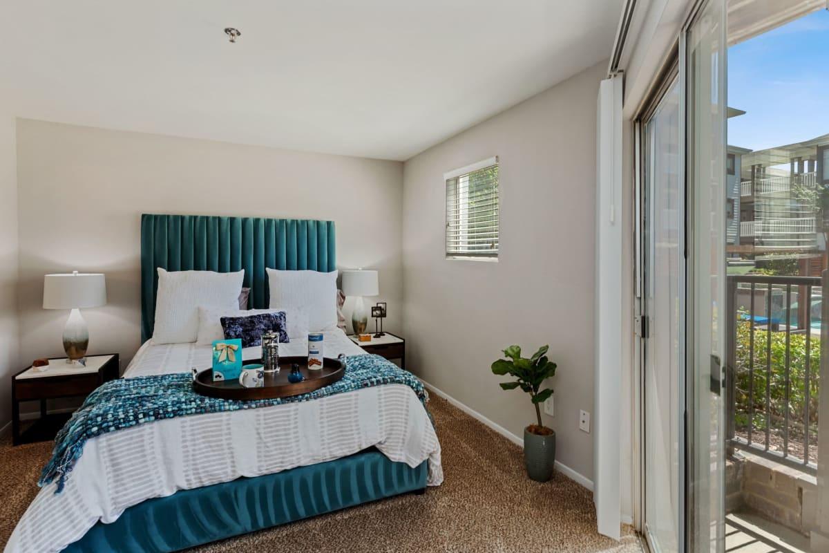 Spacious well lit bedroom at 45Eighty Dunwoody Apartment Homes in Dunwoody, Georgia