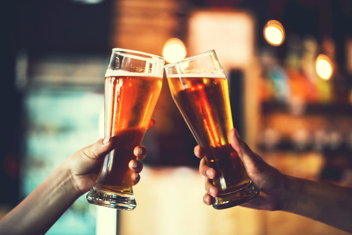 Residents out grabbing drinks near Enchanted Springs Apartments in Colorado Springs, Colorado