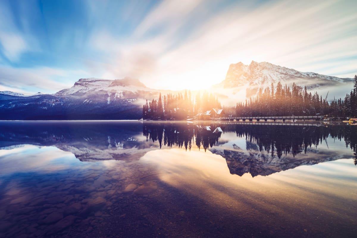 Beautiful lake near Enchanted Springs Apartments in Colorado Springs, Colorado