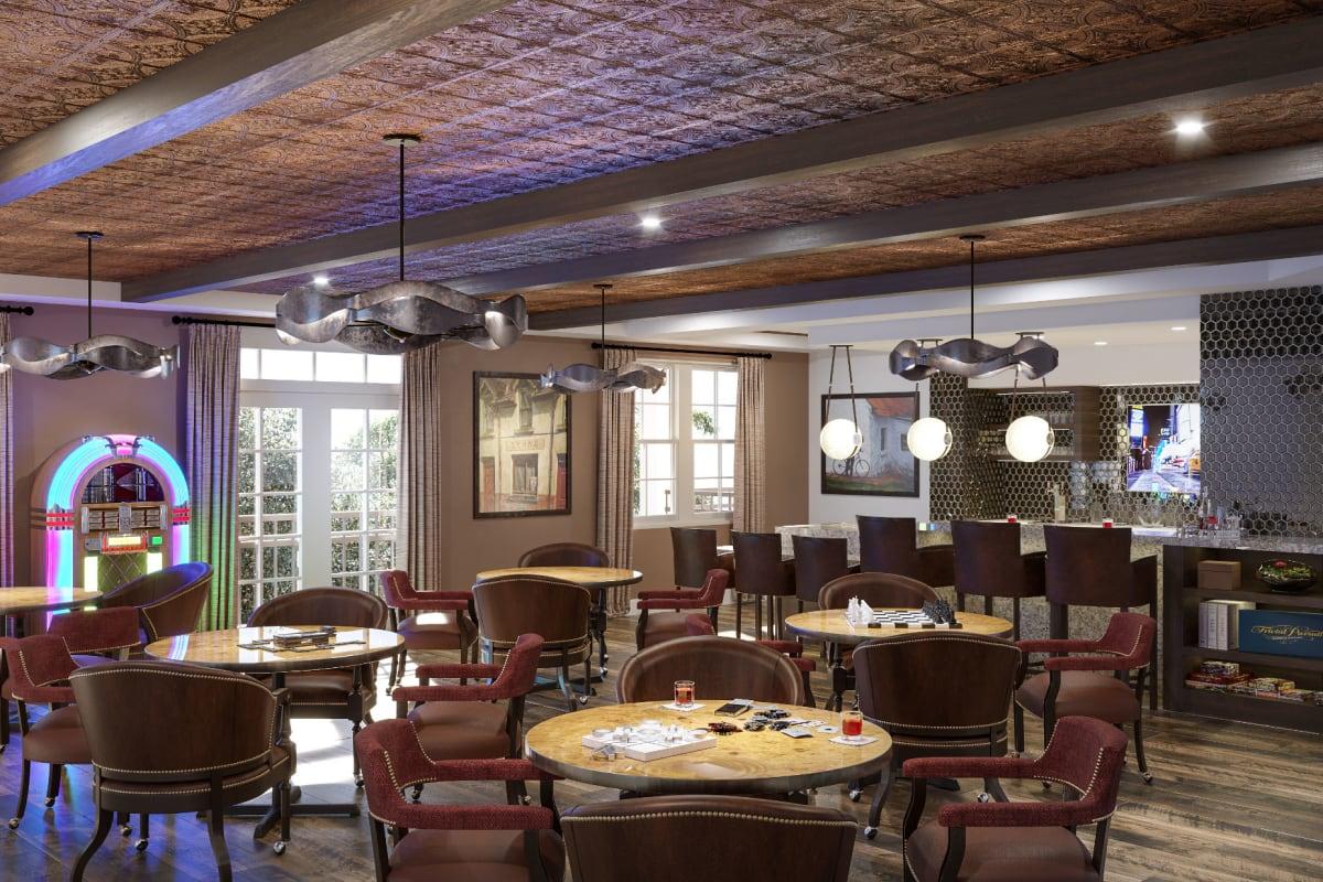 Pub and lounge at Monark Grove Clarkston in Clarkston, Michigan