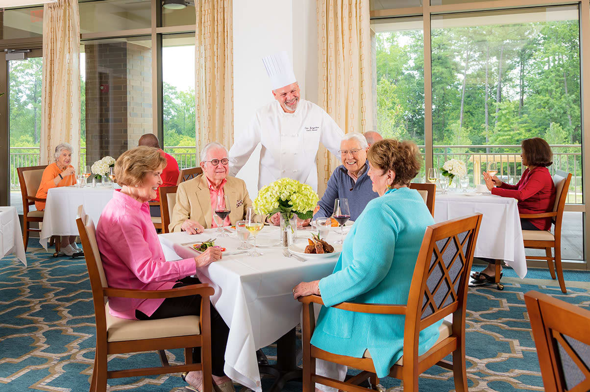 Enjoy the Raleigh senior living lifestyle at The Cardinal at North Hills