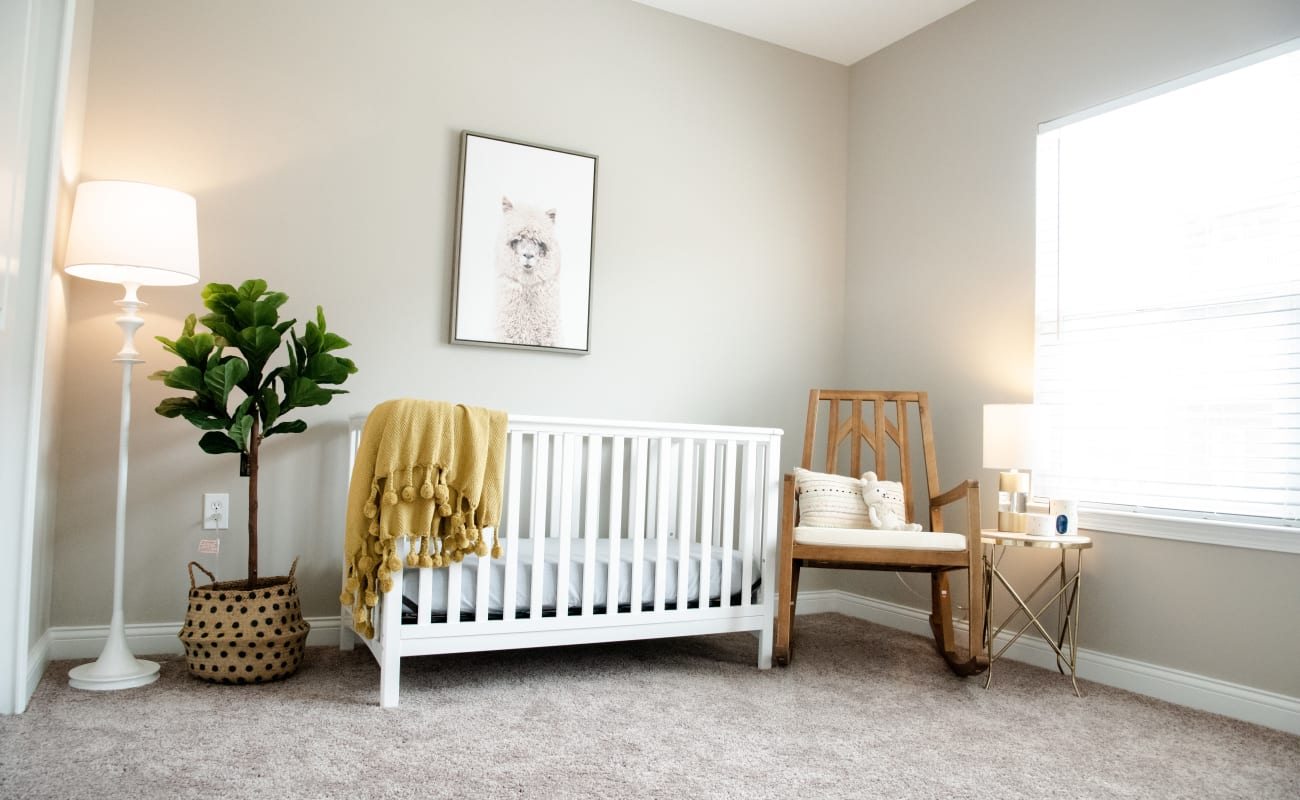 Baby's bedroom in a model home at Bonterra Apartments in Fort Wayne, Indiana
