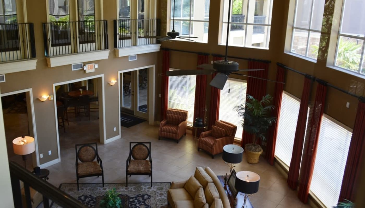 Luxury clubhouse at The Abbey at Grande Oaks in San Antonio, TX