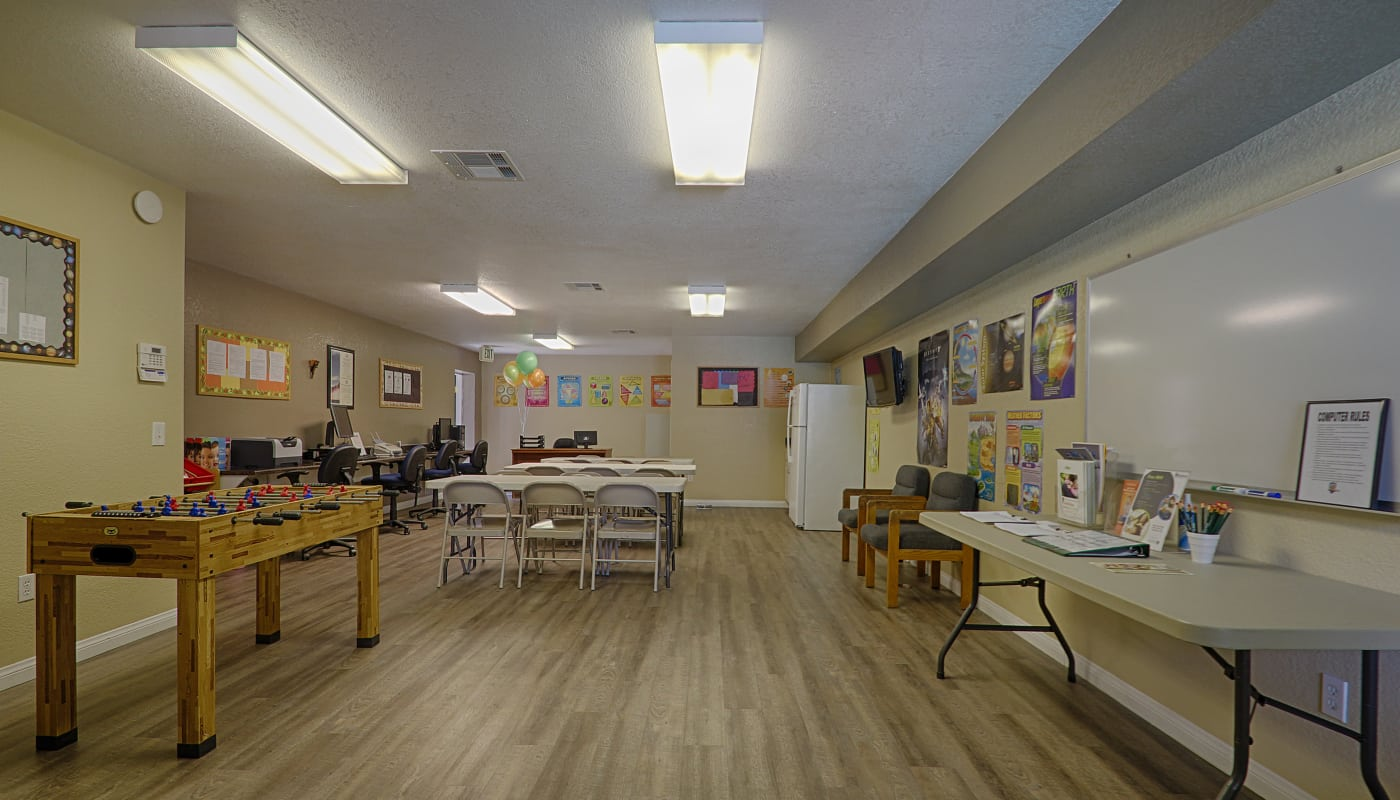 Well-equipped resident center at Creekside Village Apartment Homes in San Bernardino, CA