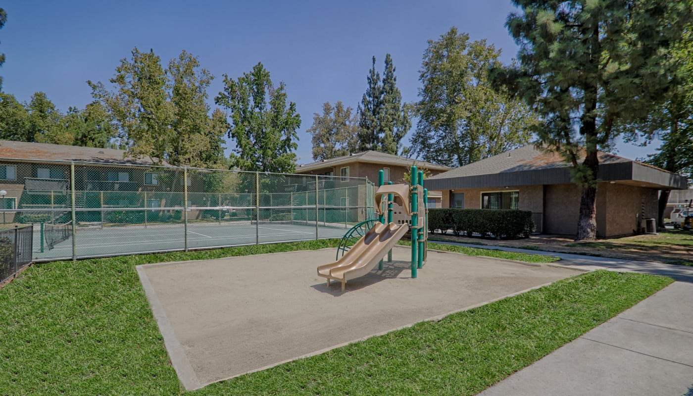 On-site playground at Creekside Village Apartment Homes in San Bernardino, CA