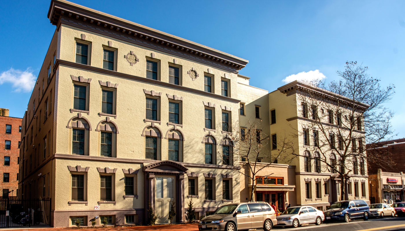 Exterior of Monsenor Romero Apartments in Washington, District of Columbia
