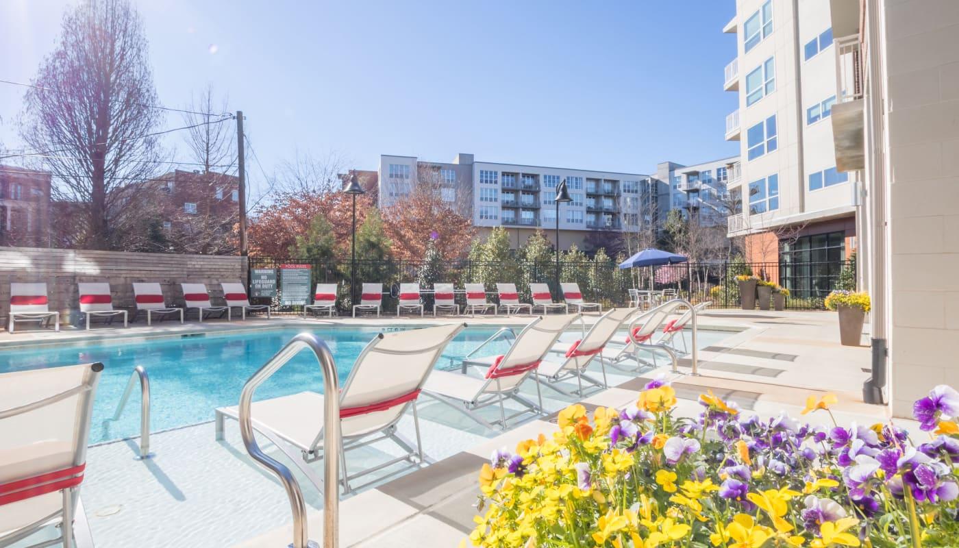 Swimming pool at Inman Quarter in Atlanta, Georgia