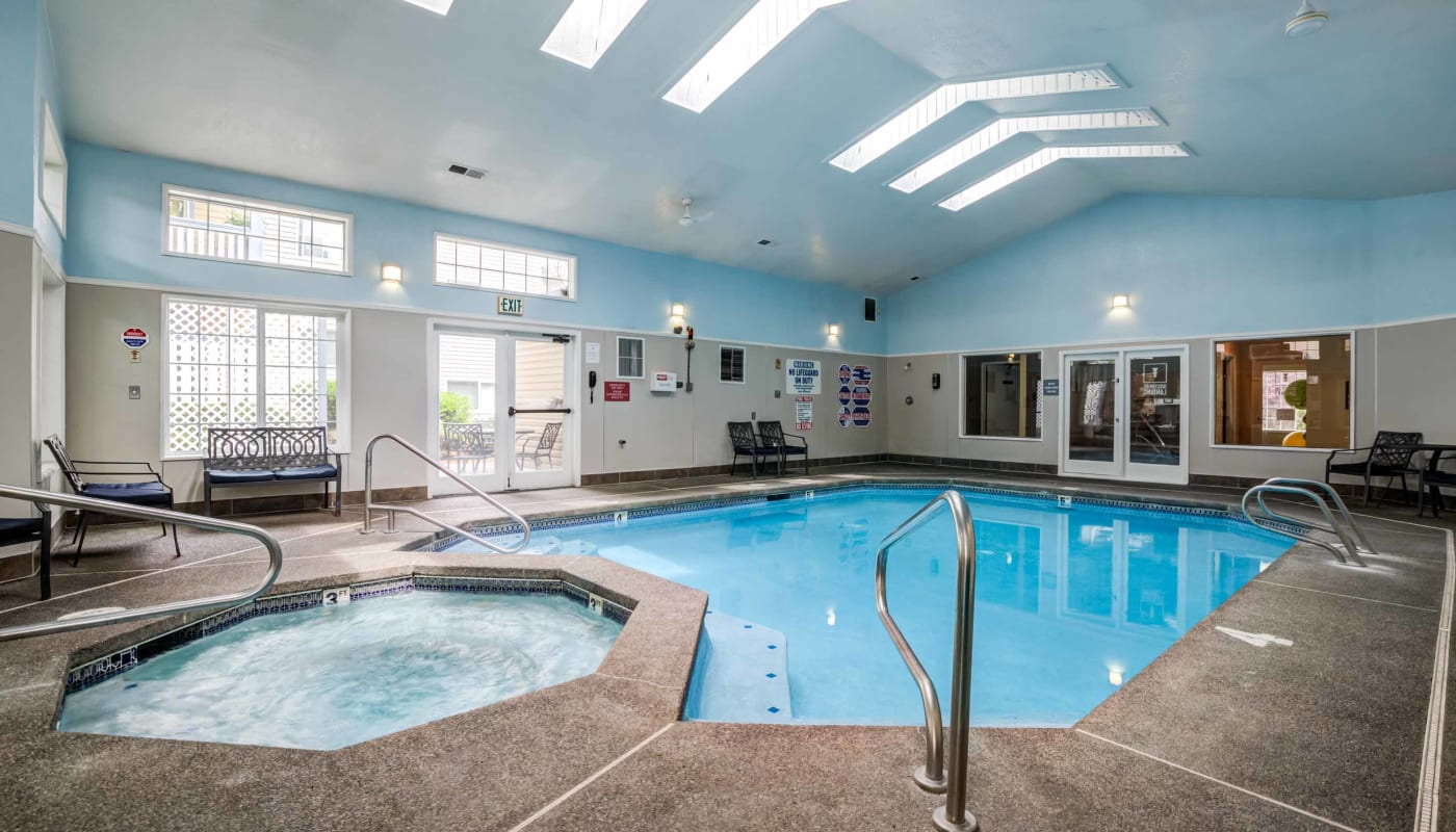 Indoor pool at Discovery Landing Apartment Homes