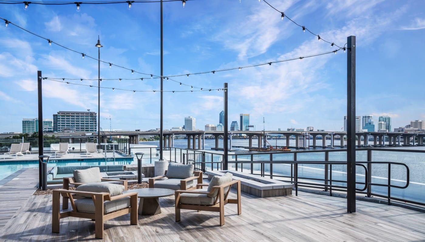 Pool Lounge Area at Riverside St. Johns in Jacksonville, Florida