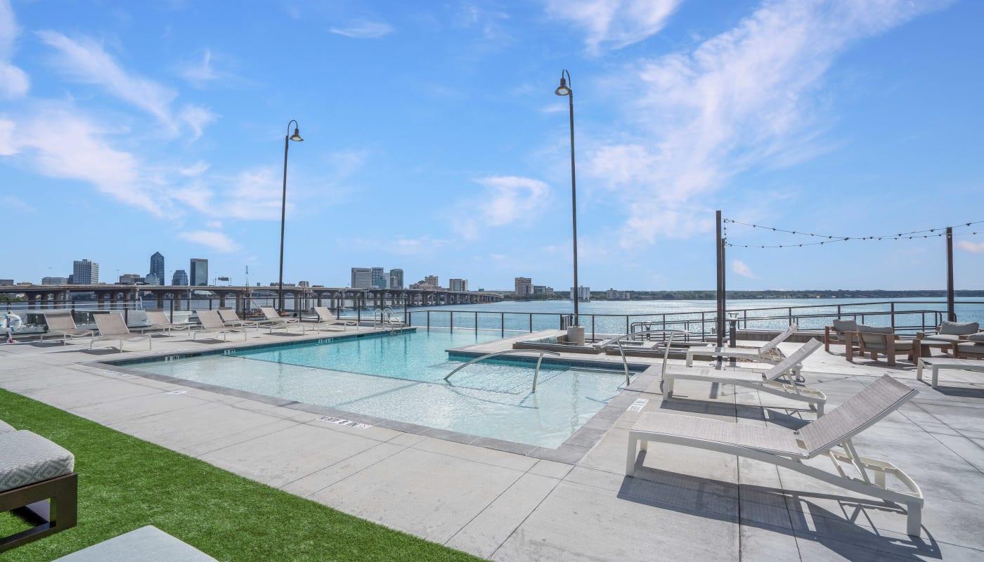 Pool Deck at Riverside St. Johns in Jacksonville, Florida