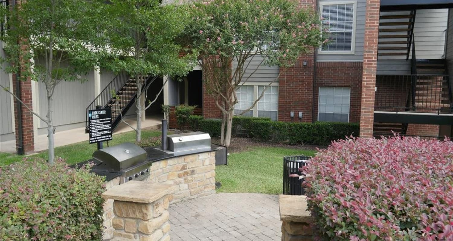 BBQ area at Veridian Place in Dallas, Texas