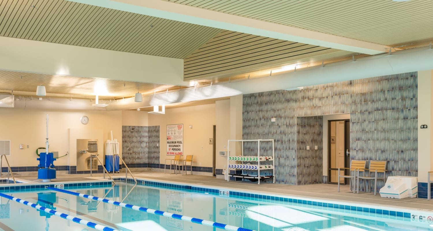 Pool exercise equipment at Touchmark at All Saints Health & Fitness Club in Sioux Falls, South Dakota