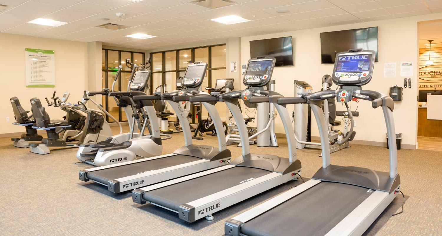 Exercise equipment at Touchmark at All Saints Health & Fitness Club in Sioux Falls, South Dakota