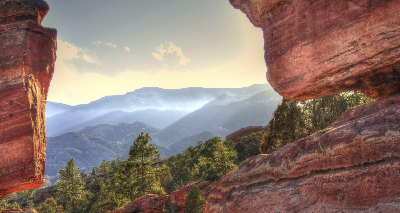 Gorgeous canyon views in Colorado Springs, Colorado near FalconView