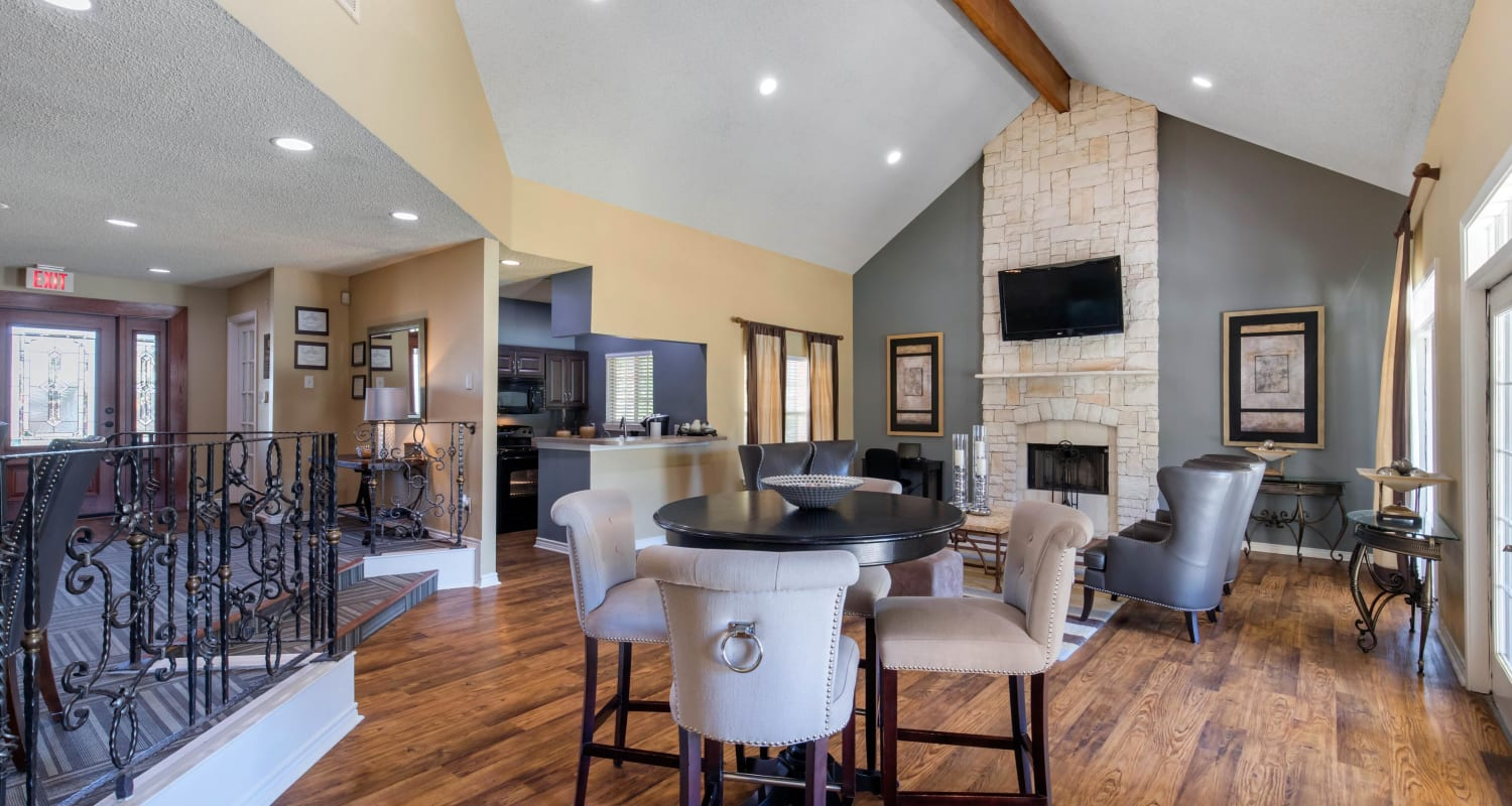 Plenty of sitting in the resident clubhouse for entertaining guests at The Logan in Bedford, Texas