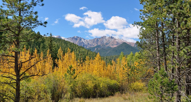 Stunning mountain views near FalconView in Colorado Springs, Colorado