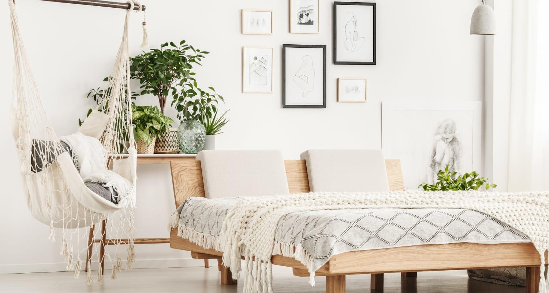 Spacious model bedroom at FalconView in Colorado Springs, Colorado